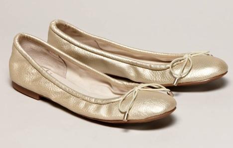 70f1bc4e97600 Sam Edelman Metallic ballet flat in gold  19.50