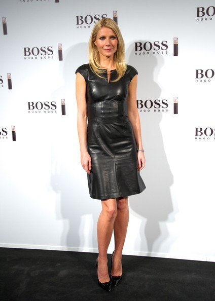 "Gwyneth Paltrow wearing Jimmy Choo ""Maya"" in Black"
