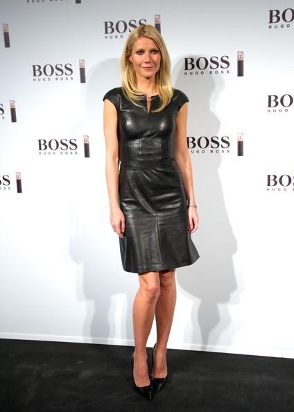 """Gwyneth Paltrow wearing Jimmy Choo """"Maya"""" in Black"""