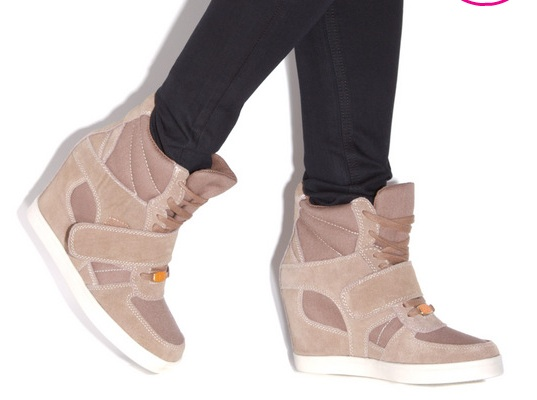 ShoeDazzle Wedge Sneakers