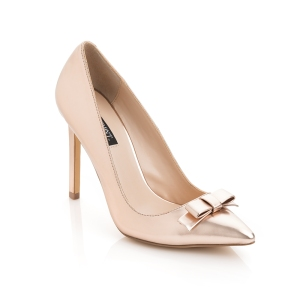 "ShoeMint ""Joanna"" bow pump in Rose-Gold"