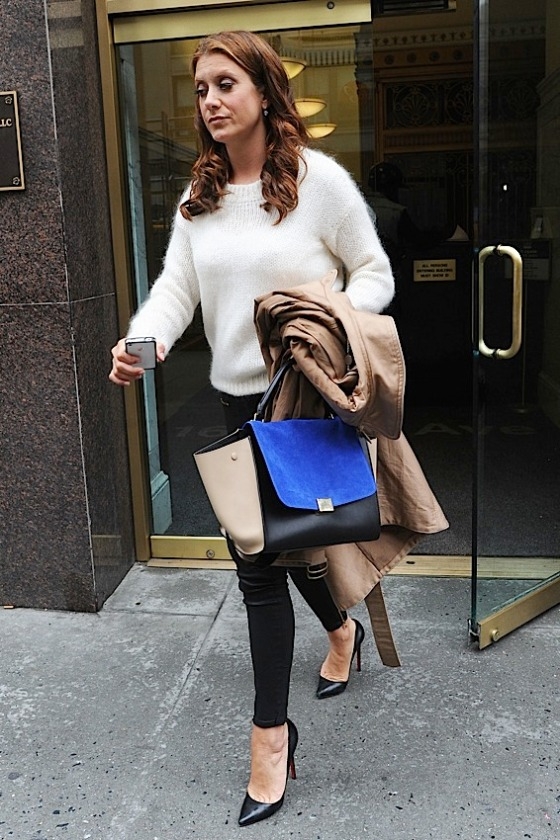 Celine Trapeze in Cobalt carried by Grey's Anatomy's actress Kate Walsh