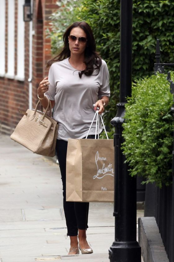 Tamara Ecclestone with a tan Birkin